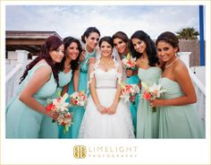 ISLA DEL SOL YACHT AND COUNTRY CLUB, Clearwater, Bride & Bridesmaids. White and Teal. Beauty. Elegance. Limelight Photography, Wedding Photography, www.stepintothelimelight.com