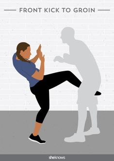 eda42bd02d1 Self-Defense Front Kick to Groin Self Defense Moves