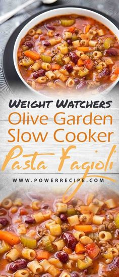 Olive garden slow cooker pasta fagioli recipe all about your power recipes slow cooker pasta e fagioli Pasta Fagioli Recipe Slow Cooker, Pasta E Fagioli Soup, Slow Cooker Pasta, Slow Cooker Recipes, Crockpot Recipes Pasta, Pasta Soup, Pasta Meals, Pasta Dishes, Pasta Salad