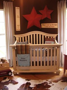 cowboy nursery if we ever have a little boy someday- whose name will be Brooks Levi Bass. HA! :)