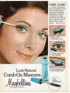 Vintage-Maybelline-Mascara-Print-Magazine-Ad-1976-Original-Cosmetics-Beauty