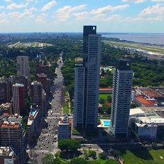 Buenos Aires es linda desde cualquier ángulo! Torres Le Parc, Palermo. #buenosaires #dron #fotoaerea #palermo #LeParc #torre