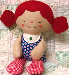 Sweet Gingerbread Man and Doll Softie Pattern