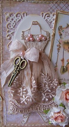 Ideas vintage cards hand made ideas shabby chic Diy And Crafts, Paper Crafts, Sewing Cards, Shabby Chic Cards, Dress Card, Vintage Quilts, Card Tags, Card Kit, Vintage Cards