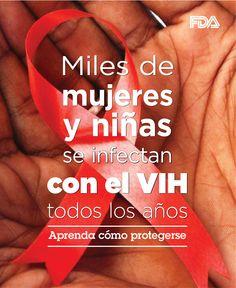 Miles de mujeres y niñas se infectan con el VIH todos los años. Aprenda cómo protegerse.  Día Nacional de Concientización sobre el VIH/SIDA en las Mujeres y Niñas,  #NWGHAAD http://go.usa.gov/3amZ4