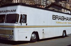 Brabham F1 racing team car transporter