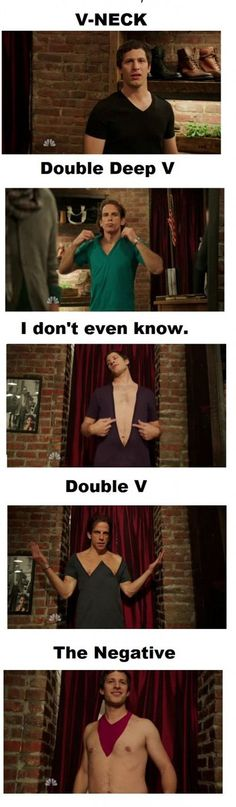 I loved that SNL made fun of the v-necks.  I firmly believe men should not wear v-necks.  ever.