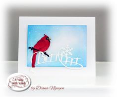 Start off your weekend with this classic wintery creation from Diana Nguyen. Visit the full post on our blog for step-by-step instructions and supplies: http://wp.me/p4kQzc-5NT