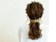 波ウェーブ+ロープ編みで、まとめ髪がもっと可愛くなる!