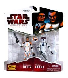 Star Wars 2009 Clone Wars Animated Exclusive Action Figure 2-Pack Clone Commander Cody and Clone Trooper Echo Star Wars http://www.amazon.com/dp/B002O6EXK6/ref=cm_sw_r_pi_dp_h9PTtb07SCT3ZG9N