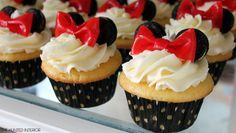Minnie Mouse Cupcakes With Directions | Minnie Mouse Birthday Party @Andrea Arguelles