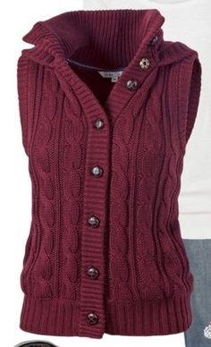love this burgundy vest