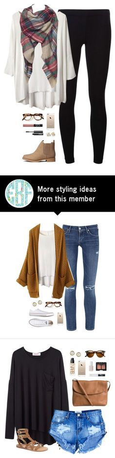 """""""still stuck insideee"""" by classically-preppy on Polyvore featuring James Perse, H&M, NARS Cosmetics and Kate Spade"""