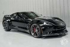 Unique Widebody Black C7 Corvette Stingray... I'm not a Chevy guy but this is nasty !!