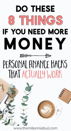 Personal Finance Hacks to Get Rich in 2019 : Personal Finance Hacks That Actually Work! Get rich in 2019 with these personal finance tips. These money saving hacks and money making ideas are the perfect way to save big if you need more money! Make More Money, Ways To Save Money, Money Tips, Money Saving Tips, Money Saving Hacks, Extra Money, Money Budget, Dave Ramsey, Planning Budget