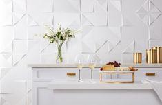 2020 Tile Trend: Sculptural - The Tile Shop Blog Room Wall Tiles, Wall Tiles Design, Kitchen Tiles Design, Bathroom Tile Designs, Ceramic Wall Tiles, Bathroom Images, Bathroom Ideas, Modern Bathroom, Master Bathroom