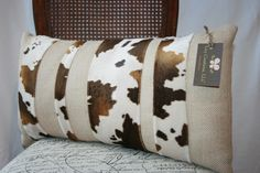 Burlap & cow maybe for a bench in front of my bed