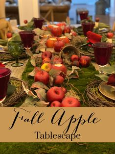 Create a rich and luxurious fall tablescape with a moss runner and apples. Brown Dinner Plates, Apple Season, Best Ikea, Easy Diy, Simple Diy, Good Find, Bowl Of Soup, Apple Tree, Votive Candles