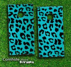 cornhole boards designs   ... Cheetah Skin-set for a pair of Cornhole Boards   Design Skinz, INC