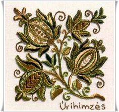 Hungarian Embroidery, Folk Embroidery, Hobbies And Crafts, Folk Art, Brooch, Knitting, Antiques, Pattern, Jewelry