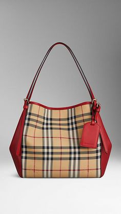 Burberry ~ The Small Canter in Horseferry Check and Leather