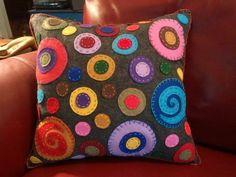 Fun and Contemporary Circle Pillow