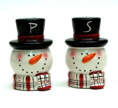 Snowmen salt shakers--great for Christmas!