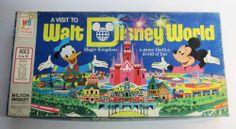 Rare Vintage 1972  A VISIT TO WALT DISNEY WORLD MAGIC KINGDOM Board Game Mickey