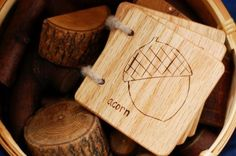 Wooden Book - Nature, Scavenger Hunt