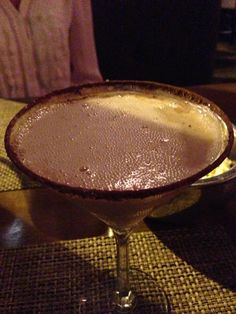 Karamel kiss cocktail with caramel vodka and chocolate at Epic.