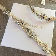 Paradise headdress with matching bespoke belt; a perfect combination. You too can have something made just for you.  Handmade bridal hair accessories from Donna Crain www.donnacrain.com