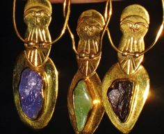 Athena's Owl Spirit - Antique Gold Plated Sterling Silver Talisman - Earth Magic, Fae Sight, Love, Prosperity