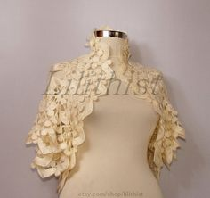 Almost Famous Lined Lacey Bolero Jacket Size 10 Sample NWT SP £105