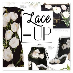 """TULIPS"" by larissa-takahassi ❤ liked on Polyvore featuring Dolce&Gabbana, Dolce, laceup and tulips"