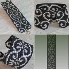 Loom Pattern - Evening Beauty Cuff Bracelet | BeadholdenDesigns - Patterns on ArtFire