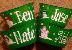 Personalized Basket/Bucket Large by TickleMeTurquoise on Etsy Dog Holidays, Bucket, Unique Jewelry, Handmade Gifts, Vintage, Etsy, Kid Craft Gifts, Craft Gifts, Costume Jewelry