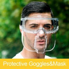 Outdoor Protective Goggles Transparent Face Shield Anti-droplets Separable Cycling Eyeglasses Eyepiece Coronavirus Protective | | IMS Integrated Marketing Systems