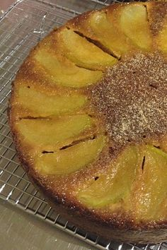 Perfectly moist and full of apple and spices, this upside down cake is pretty and scrumptious on it's own or served with a dollop of cream - yum!