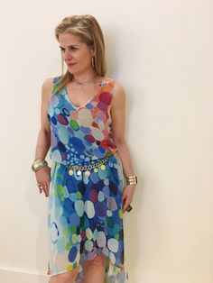 The Always Looking for True Love high low georgette dress. #ClaireDesjardins #ClaireDesjardinsApparel #WearableArt #ArtAndFashion #FashionAndArt #DesignerClothing #DesignerApparel #WomensWear #AbstractArt #AbstractPainting #AbstractArtwork #CarreNoir #Fashion #ArtClothing #ArtistOnInstagram #ArtistOfInstagram #Clothing #Apparel #WomensApparel #WhereFashionMeetsArt #WhereArtMeetsFashion #Dresses #Dress #Blouse #Jacket