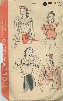 An original ca. 1940's Hollywood Pattern
