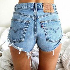 Levi's 501 High Waisted Vintage Denim Shorts - Frayed and Distressed Levi by LunaLovesVintage on Etsy https://www.etsy.com/listing/268465341/levis-501-high-waisted-vintage-denim