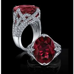 Elegant Women 925 Silver Oval Cut Ruby Gems Rings Cz Engagement Jewelry in Jewelry & Watches, Fashion Jewelry, Rings Ruby Jewelry, High Jewelry, Luxury Jewelry, Modern Jewelry, Silver Jewelry, 925 Silver, Sterling Silver, Jewlery, Party Rings