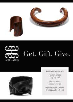 #woodcuff #woodchoker #leatherbracelet #ashandames