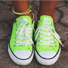 Neon green low-tops