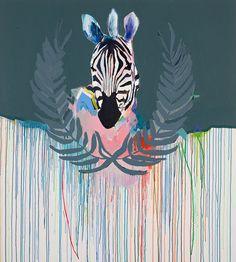 TROPHY 2 by Miranda Skoczek, 2012,oil, acrylic and enamel on canvas,153 x 137 cm. From Miranda's new show opening next week atEdwina Corlette Galleryin Brisbane.