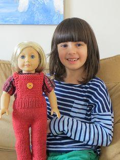 Aran Ravelry: ridgeknitter's Knitted Overalls for American Girl Doll