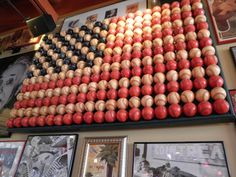 saw this in red robin. would look awesome in milo's room... baseball flag