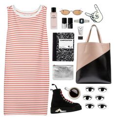 """""""Lets Grab Coffee"""" by simpleandyoung ❤ liked on Polyvore featuring Joie, Off-White, Chanel, NARS Cosmetics, Marni, Alexander McQueen, Stila and Casio"""
