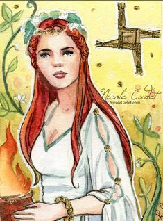 Just listed this: Goddess Brigid Limited edition ACEO/ ATC print by NicoleCadet