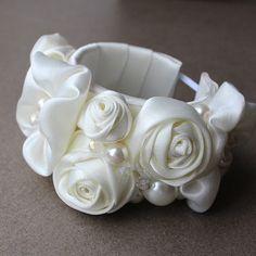 Ivory Bridal Cuff Bracelet by AlixH2010 on Etsy, $45.00